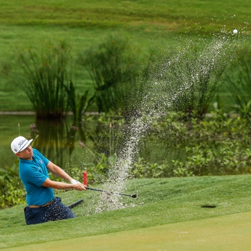 Cameron Smith of Australia plays his shot from a bunker on the 15th hole during round one of the CIMB Classic at TPC Kuala Lumpur on October 11, 2018 in Kuala Lumpur, Malaysia. (Photo by Yong Teck Lim/Getty Images)